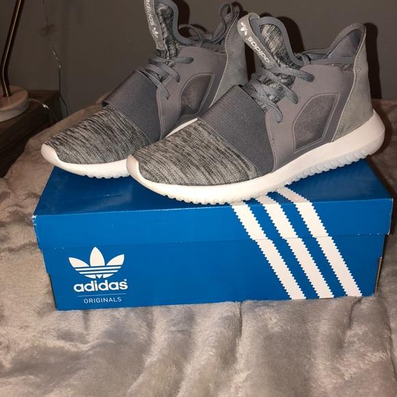 le adidas grey tubulare defiant scarpe poshmark